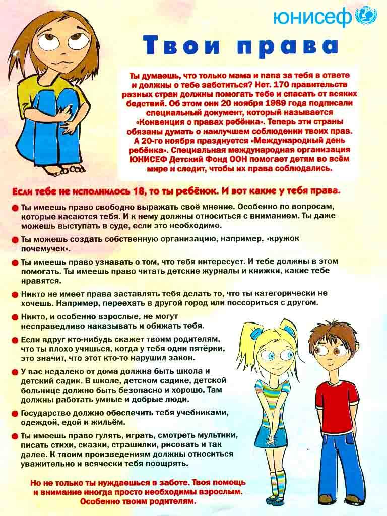Детям о правах сценарий для подростков